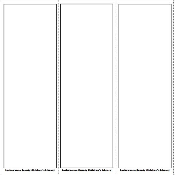 Free Bookmark Templates