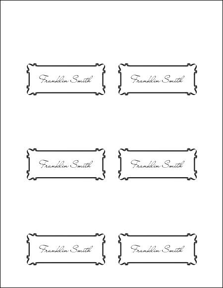 Best Images Of Place Card Template Word Printable