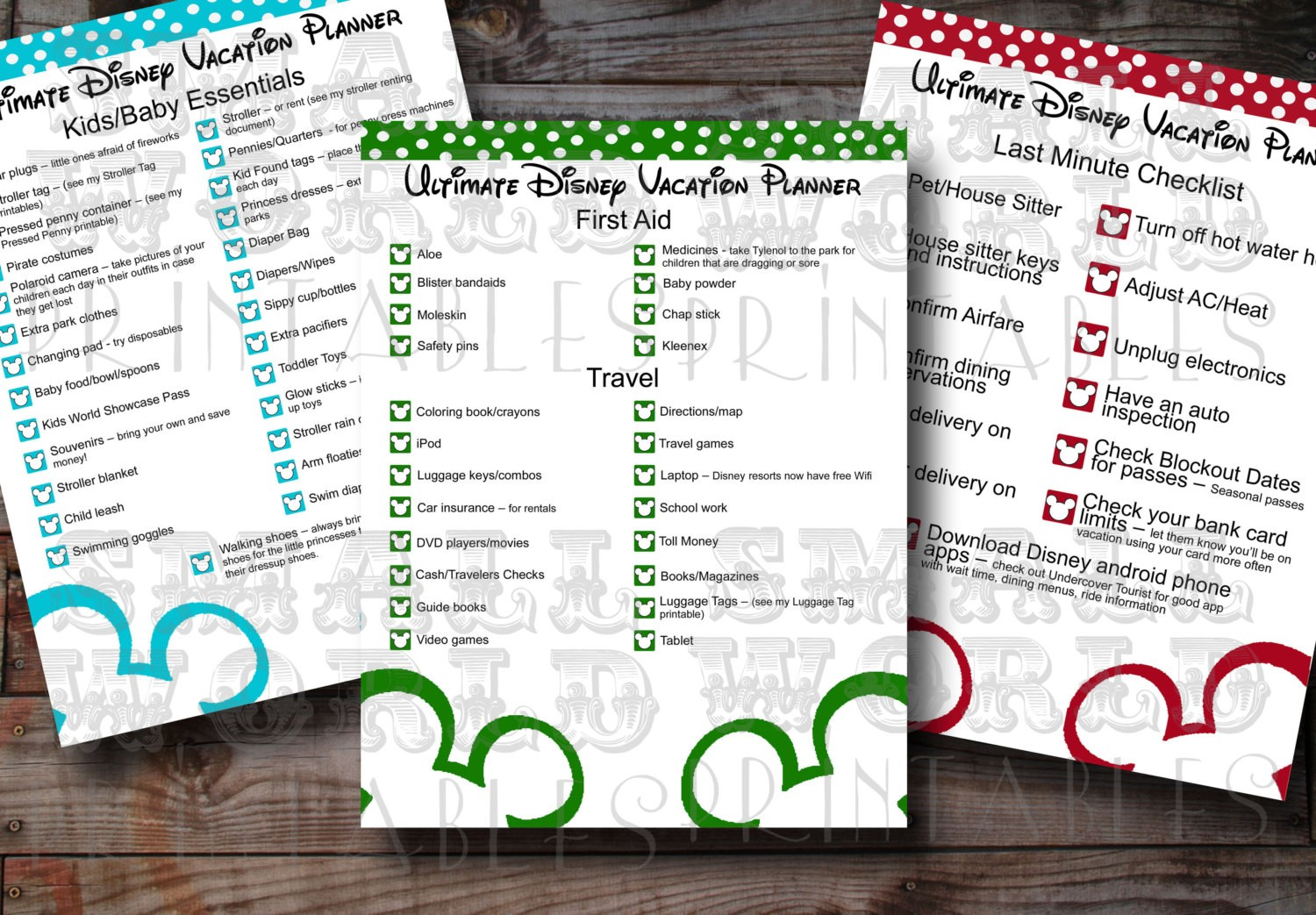 Best Images Of Printable Disney World Itinerary Walt