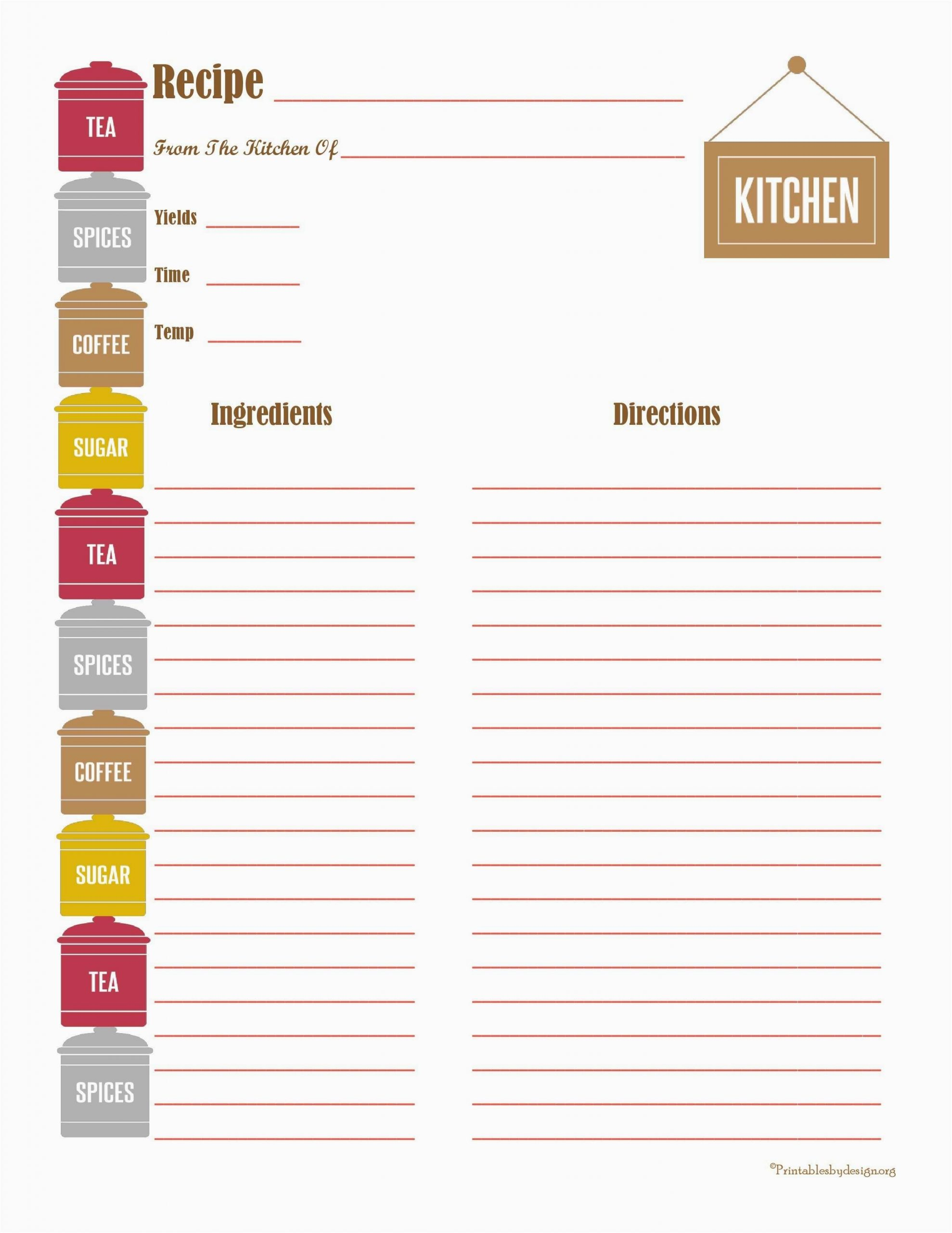 Best Of Free Editable Recipe Card Templates For Microsoft