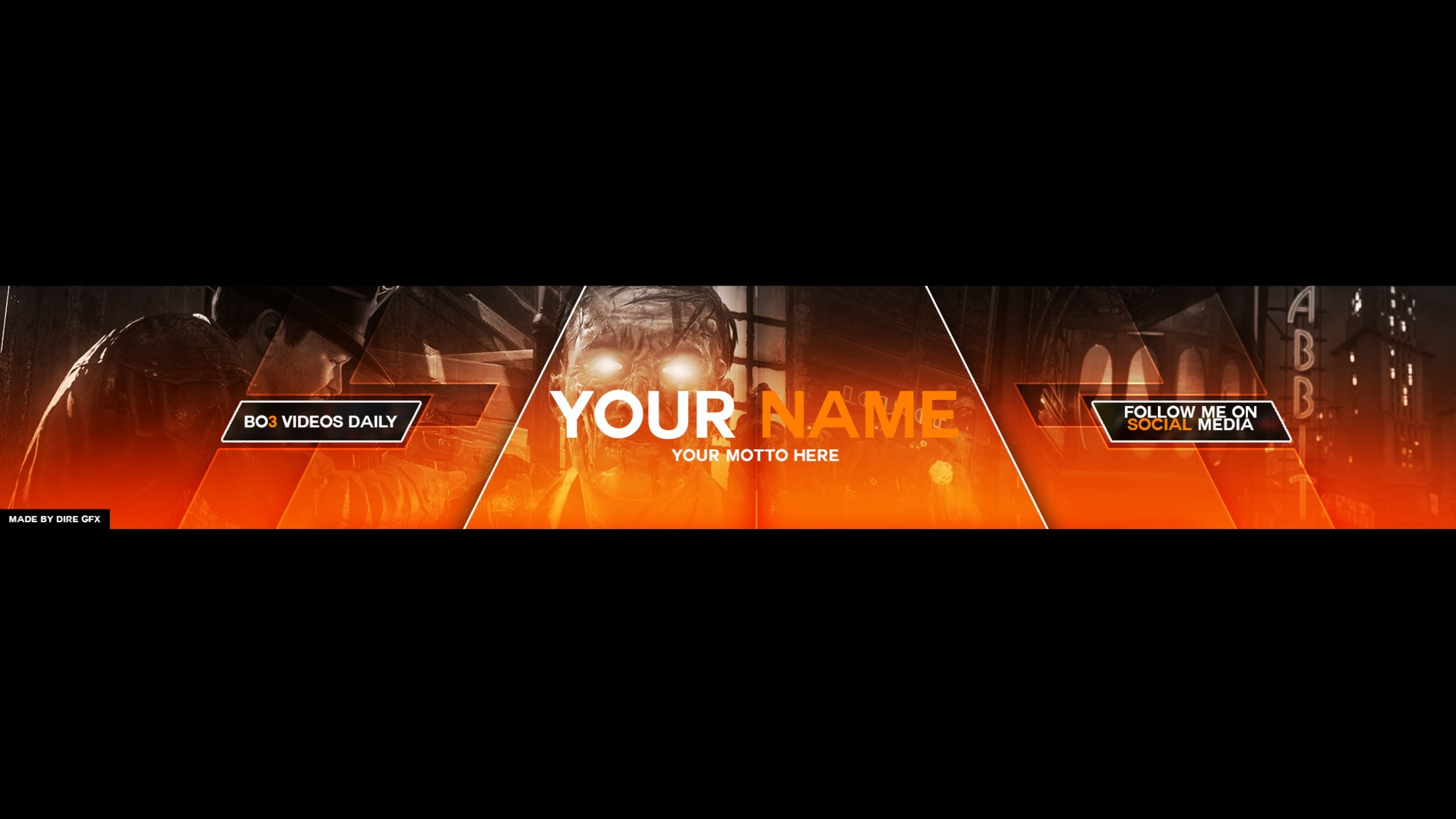 Black Ops 3 Youtube Banner Template