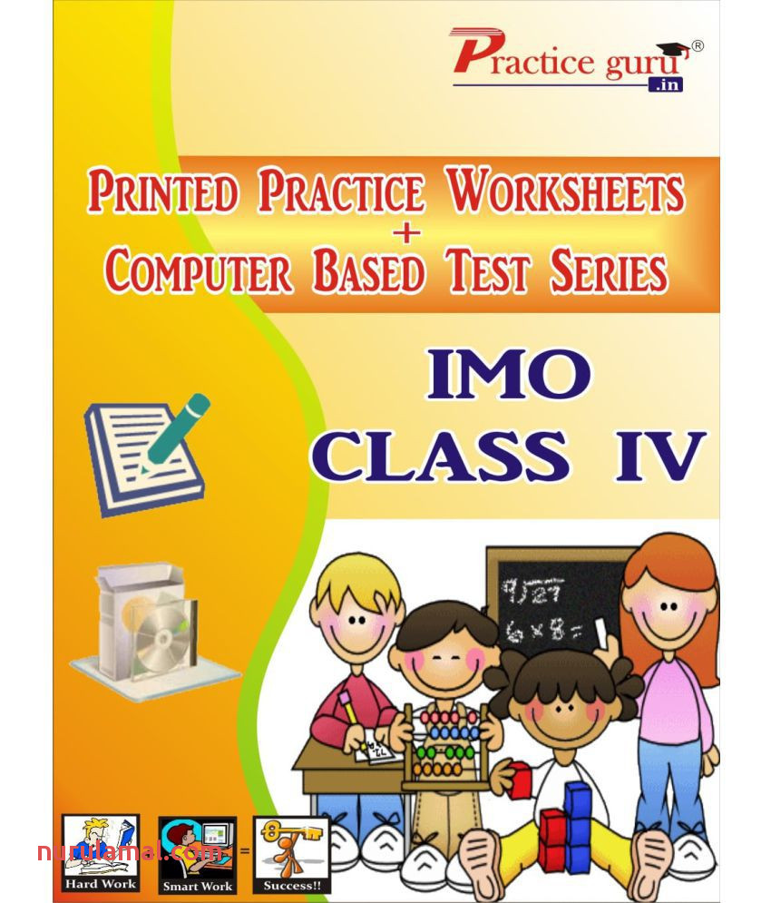 Best Quality 15 Printed Worksheets and 40 topic Wise Tests Puter Based for Imo Class 4