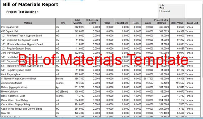 Bill Of Material Template Ideal.vistalist.co