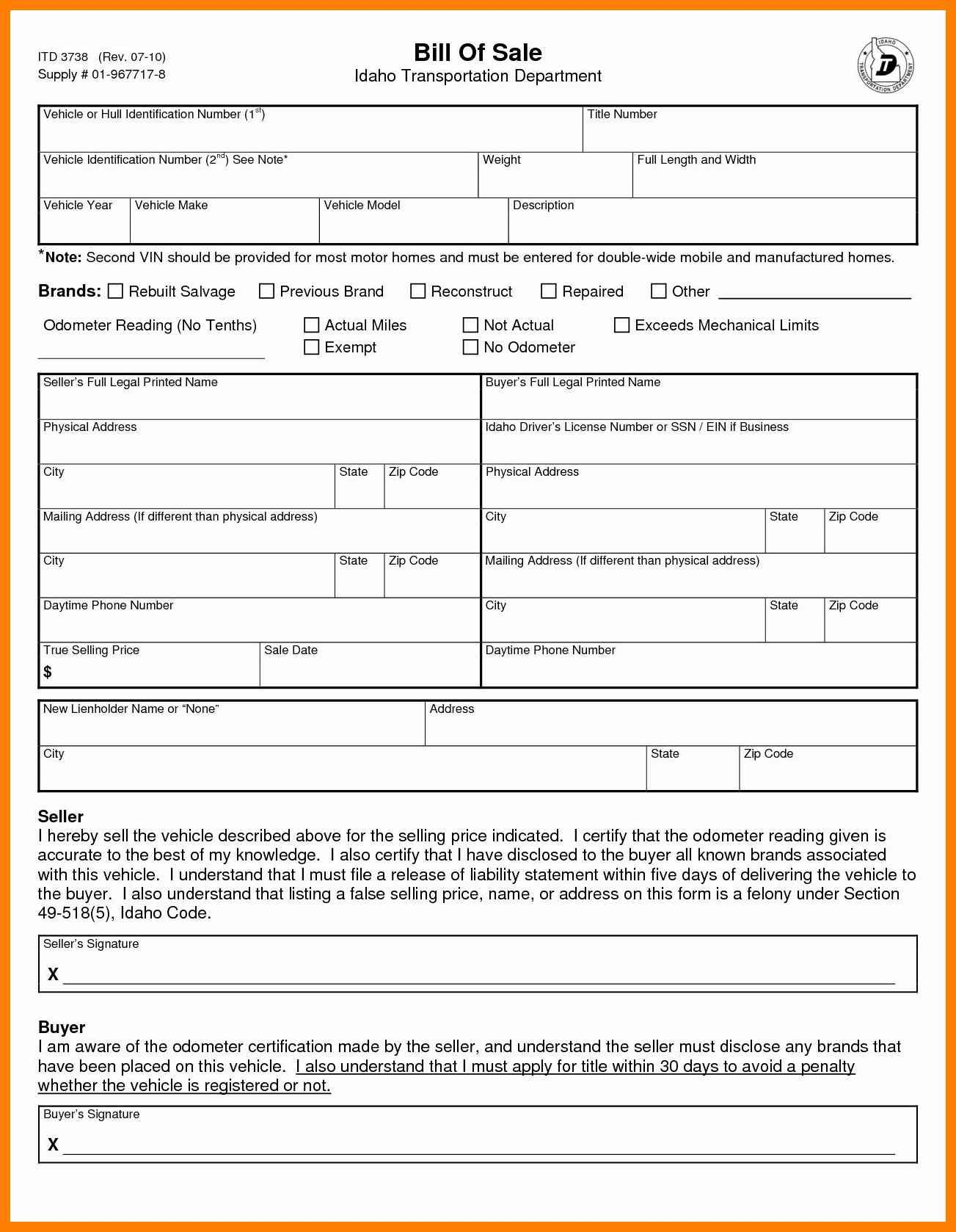 Bill Of Sale Form Dmvtemplate For Bill Of Sale For Boat