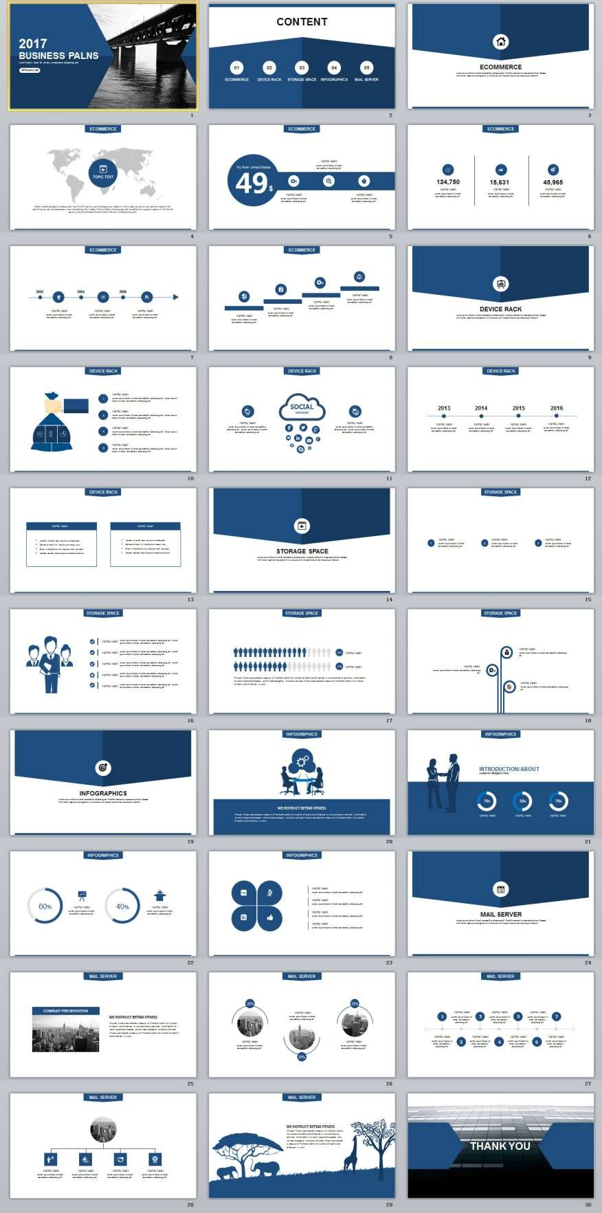 Blue Business Plan Powerpoint Templates The Highest