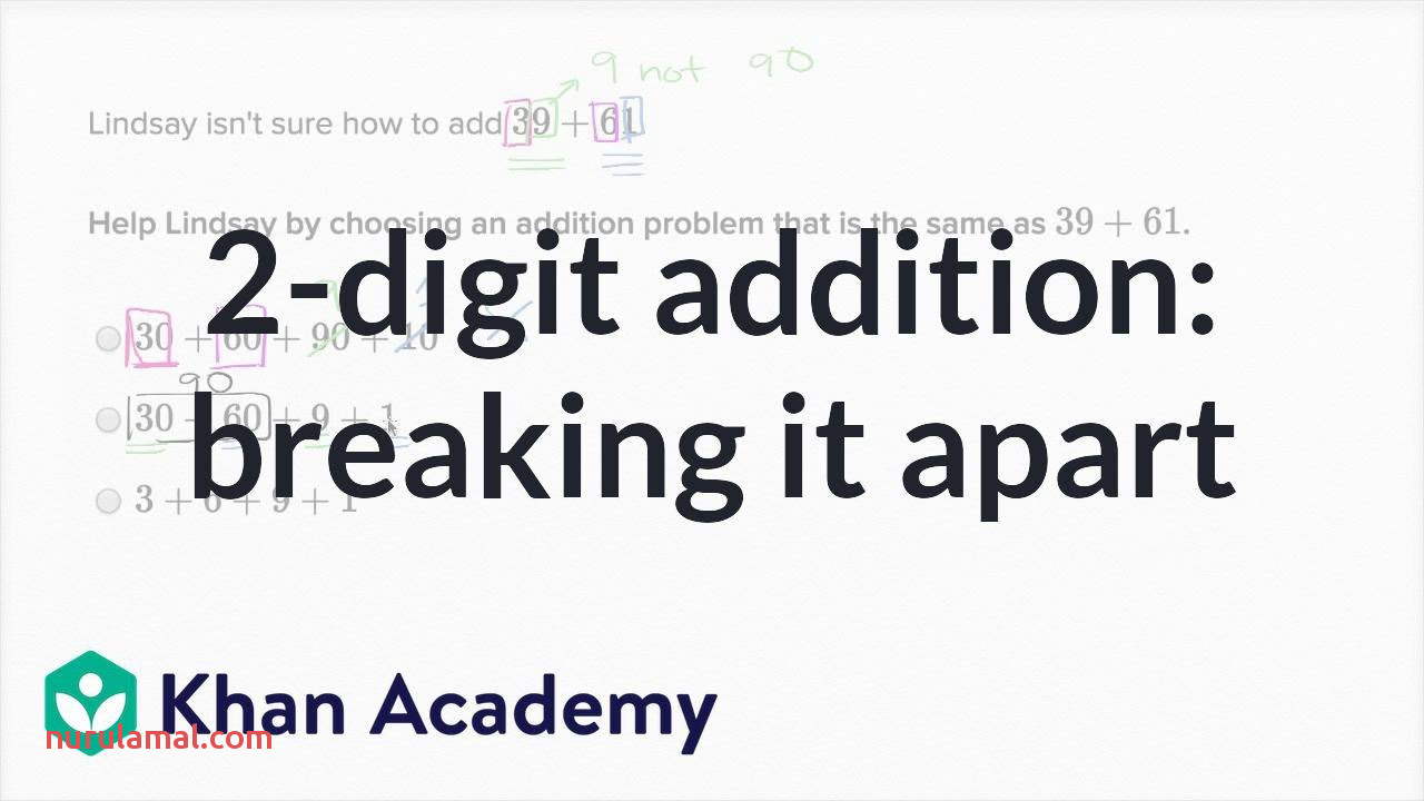 Breaking Apart 2 Digit Addition Problems Addition and Subtraction 1st Grade