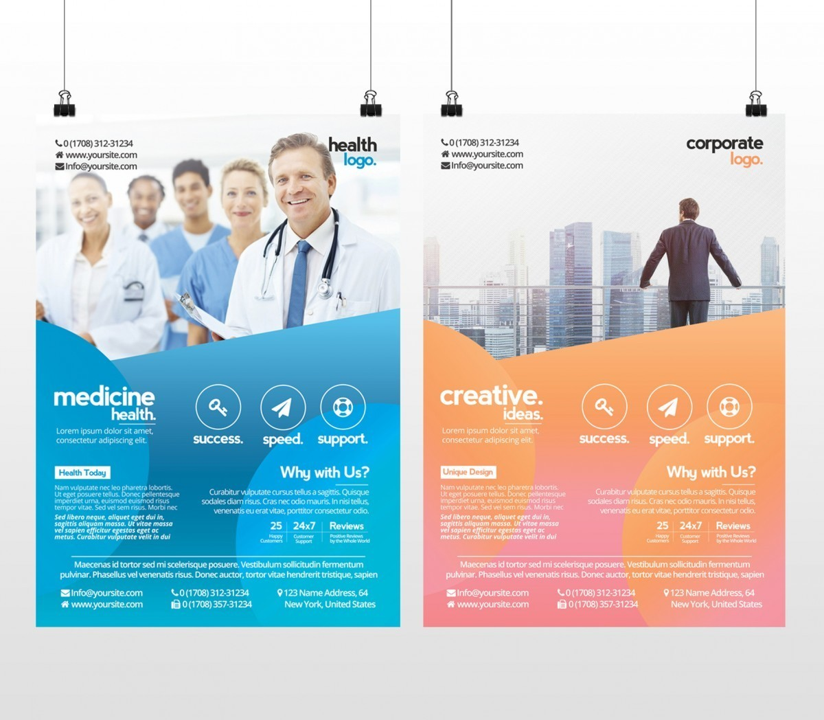 Business And Medicine Health Free Psd Flyer Template To