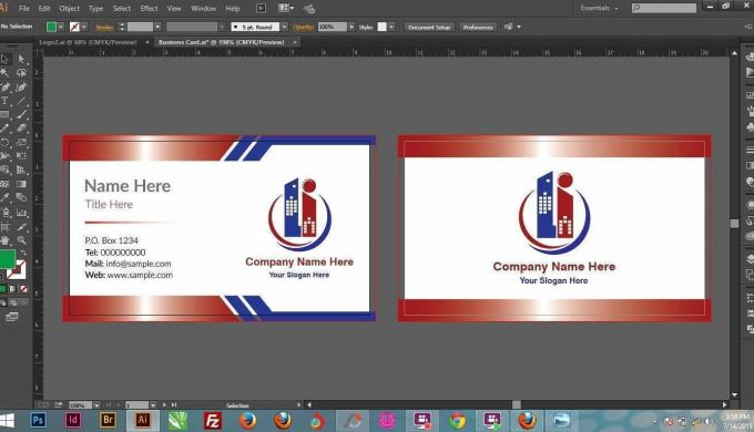 Business Cards Templates Illustrator New Double Sided