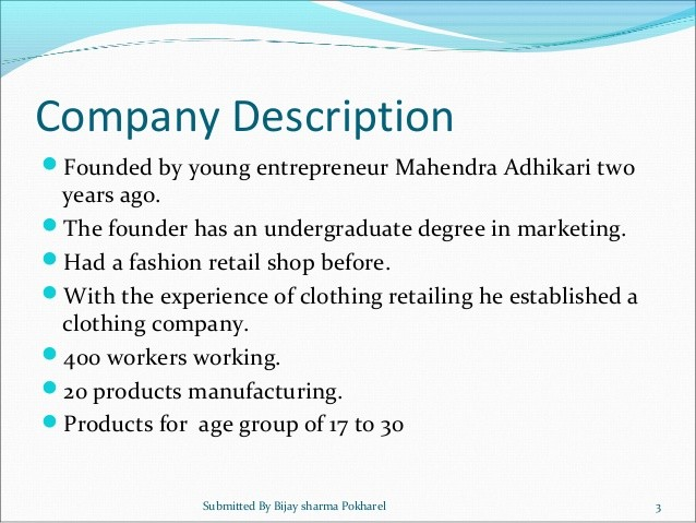 Business Plan For The Witty Clothing Company
