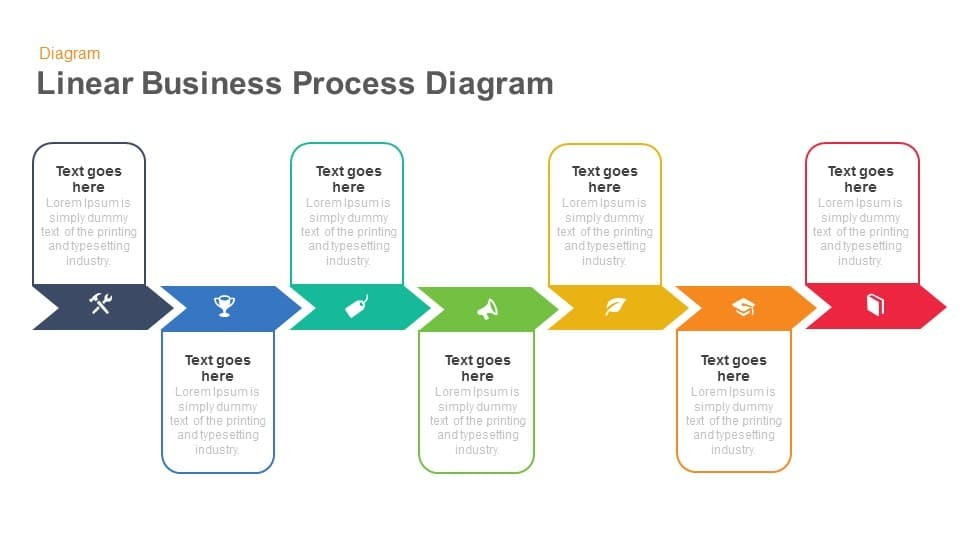 Business Process Diagram Powerpoint Slidebazaar