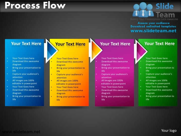 Business Process Flow Powerpoint Ppt Templates