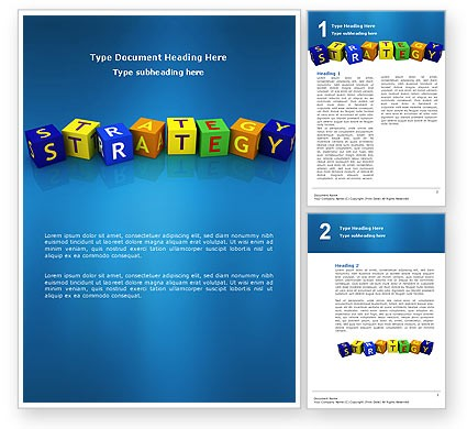 Business Strategy Education Word Template