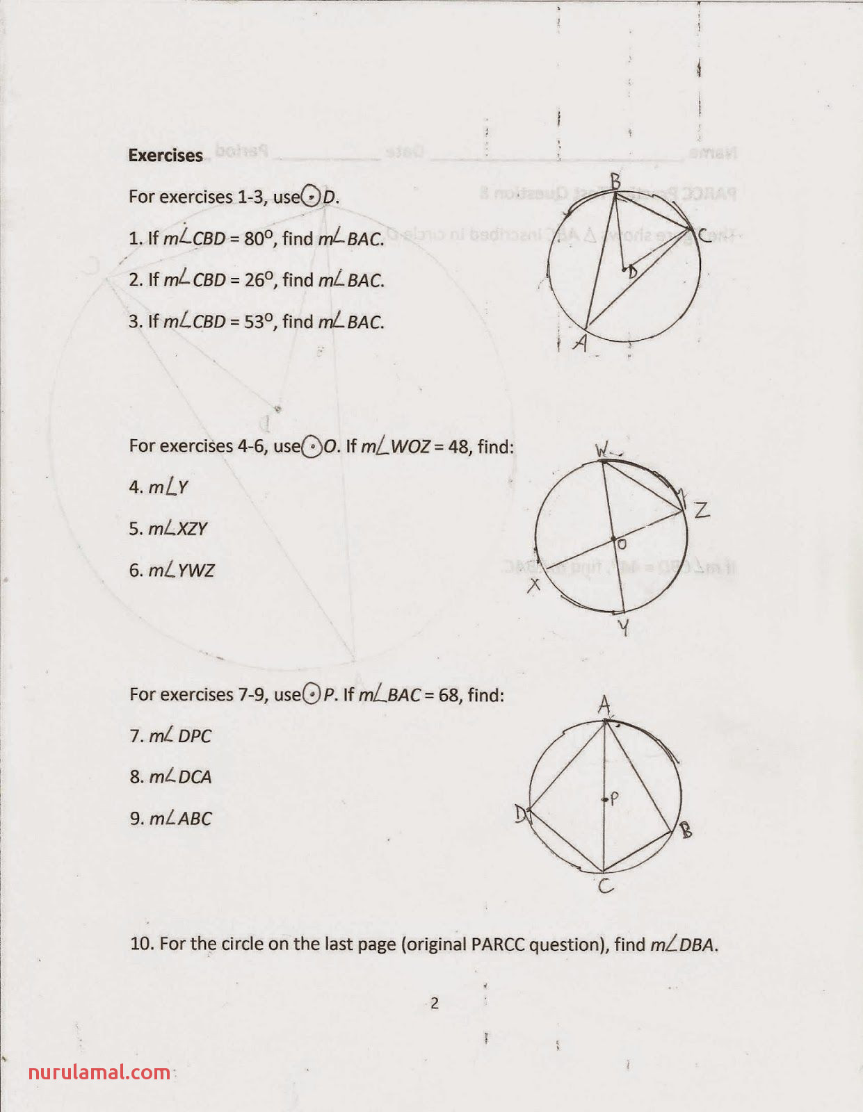 Calculating Angles Worksheet