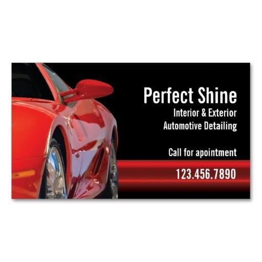 Car Detailing Business Cards Car Detailing Business Card