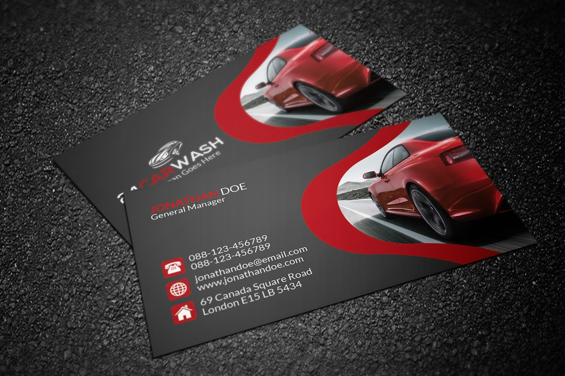 Car Wash Business Card Business Card Templates On