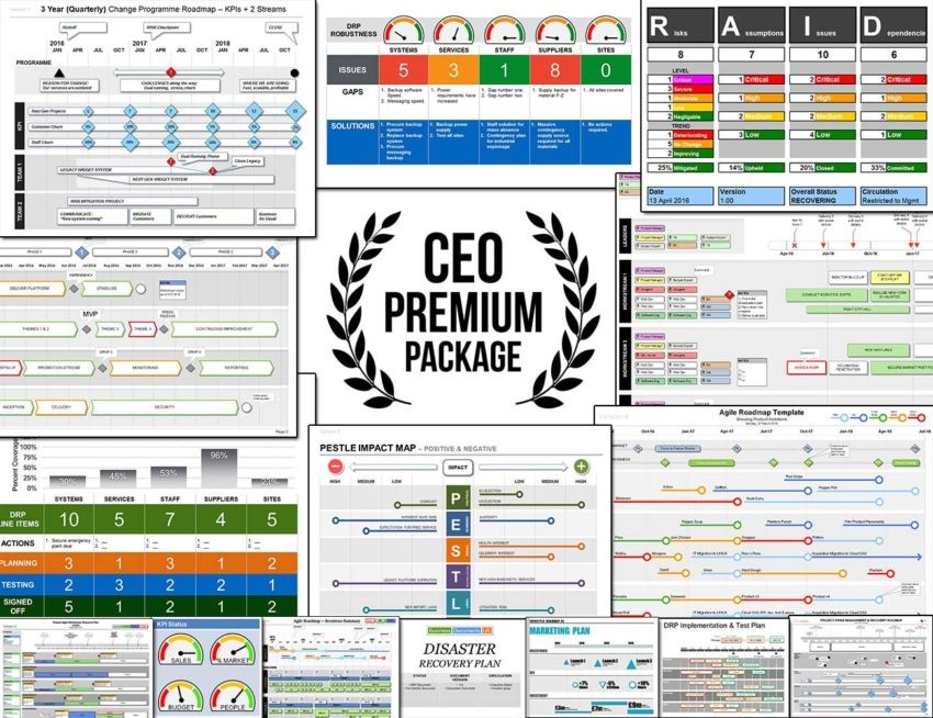 Ceo Boardroom Premium Business Template Package