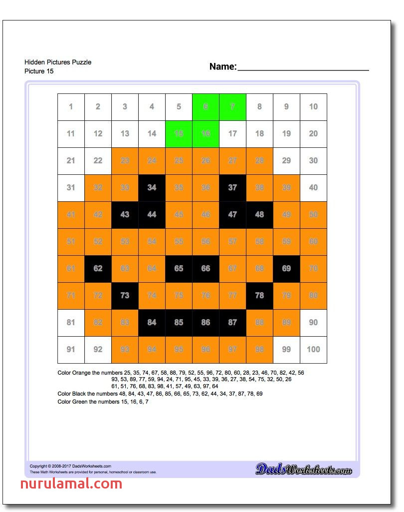 Check Out This Collection Of Halloween Hundreds Chart Hidden