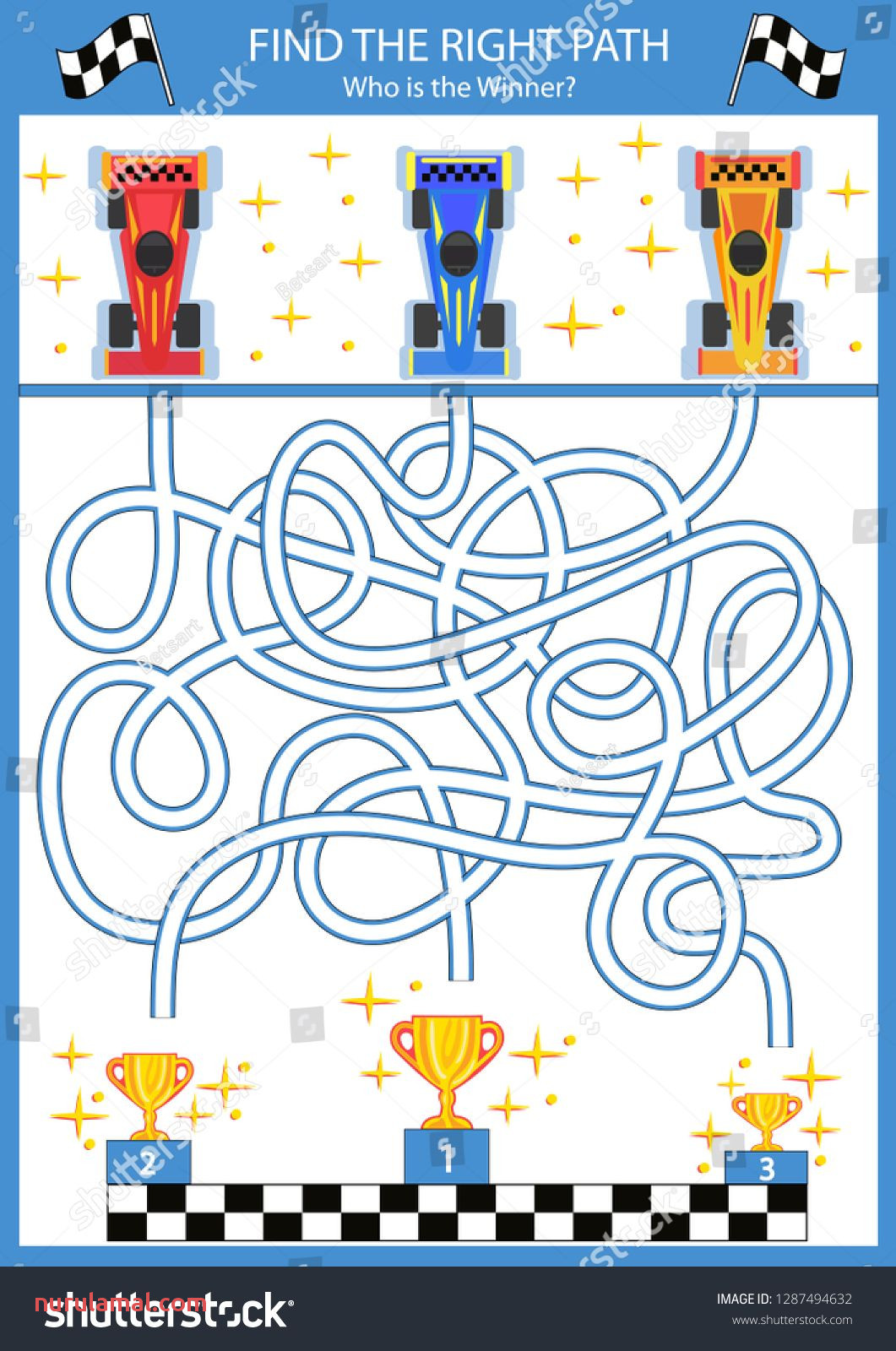 Children Maze with C Racing Cars Kids Labyrinth Game and