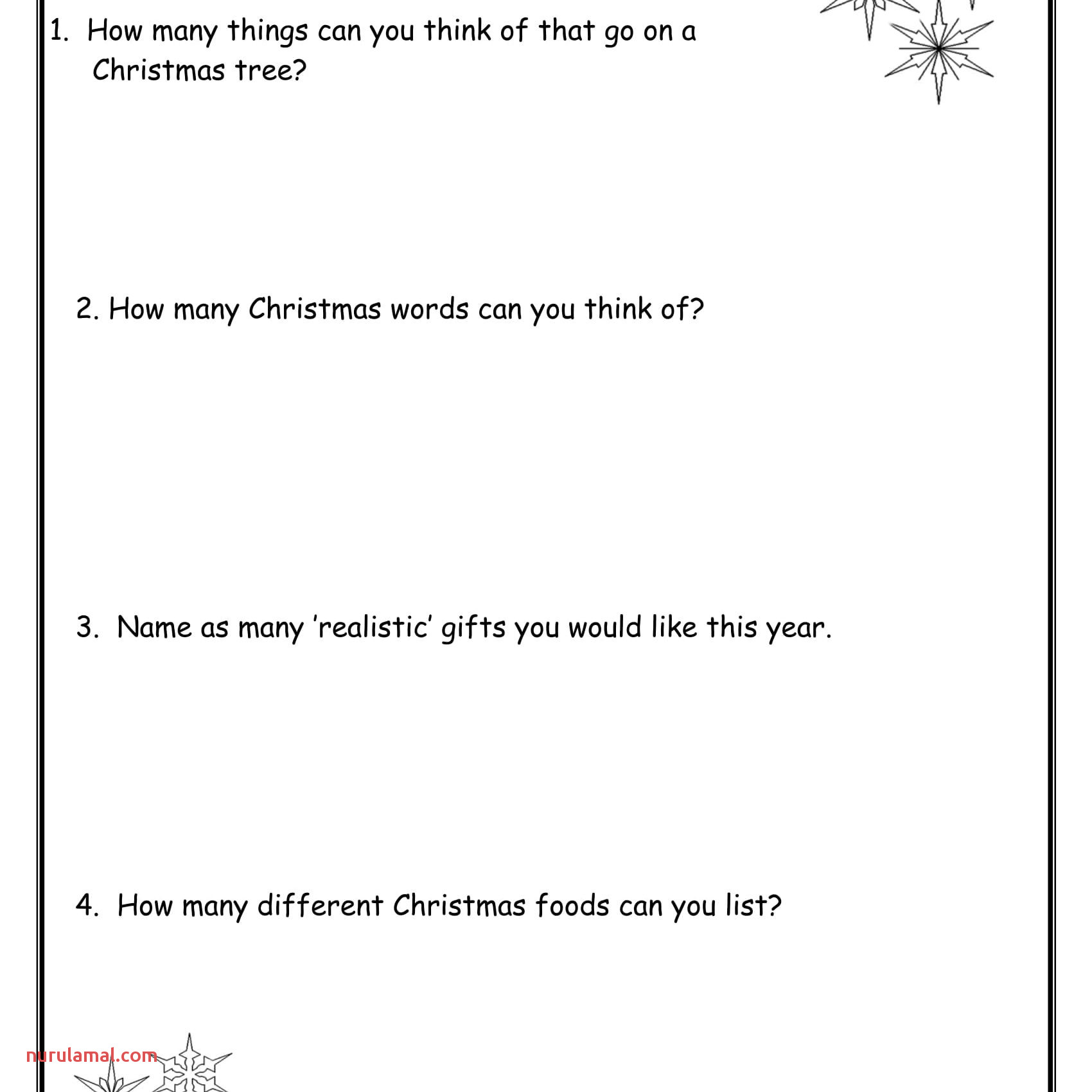 Christmas Activities Worksheets and Lesson Plans