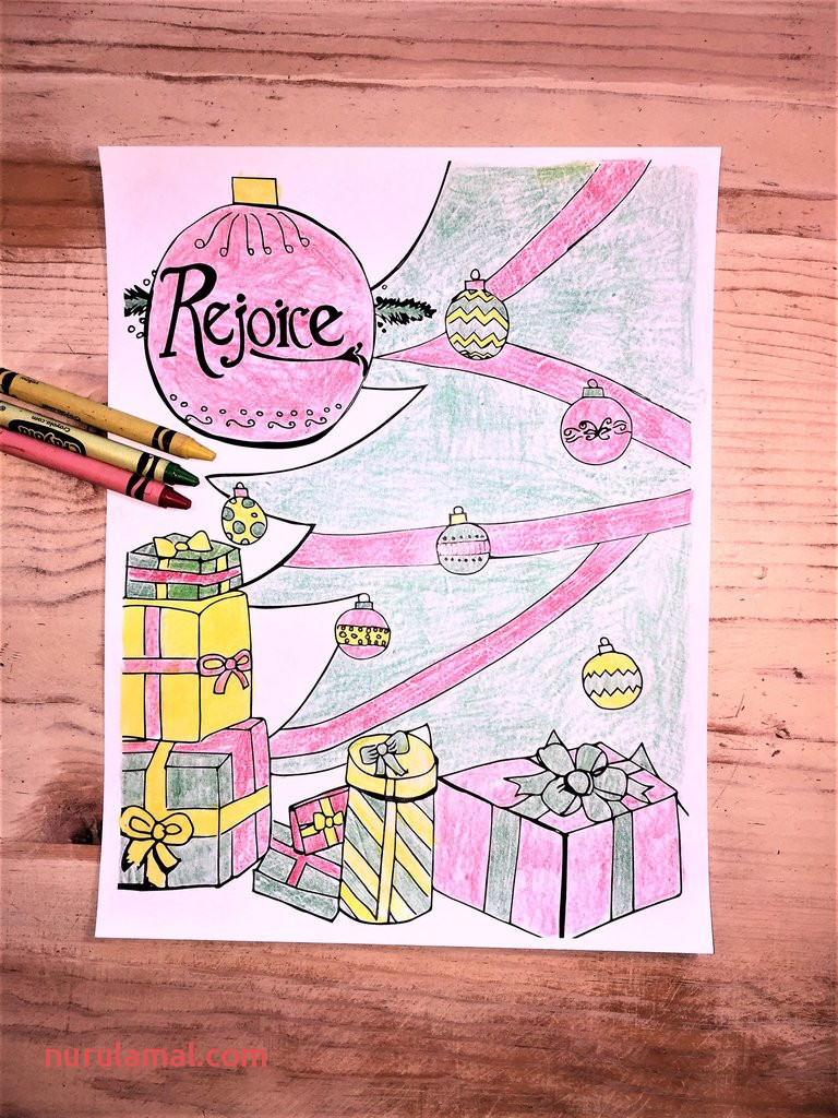 Christmas Coloring Page ornaments