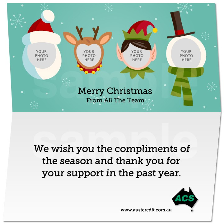 Business Email Christmas Card Template