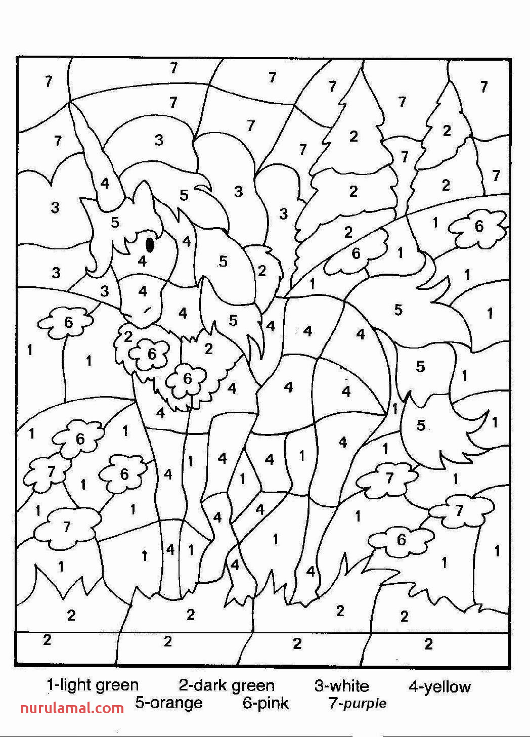 Christmas Math Coloring Pages 2nd Grade