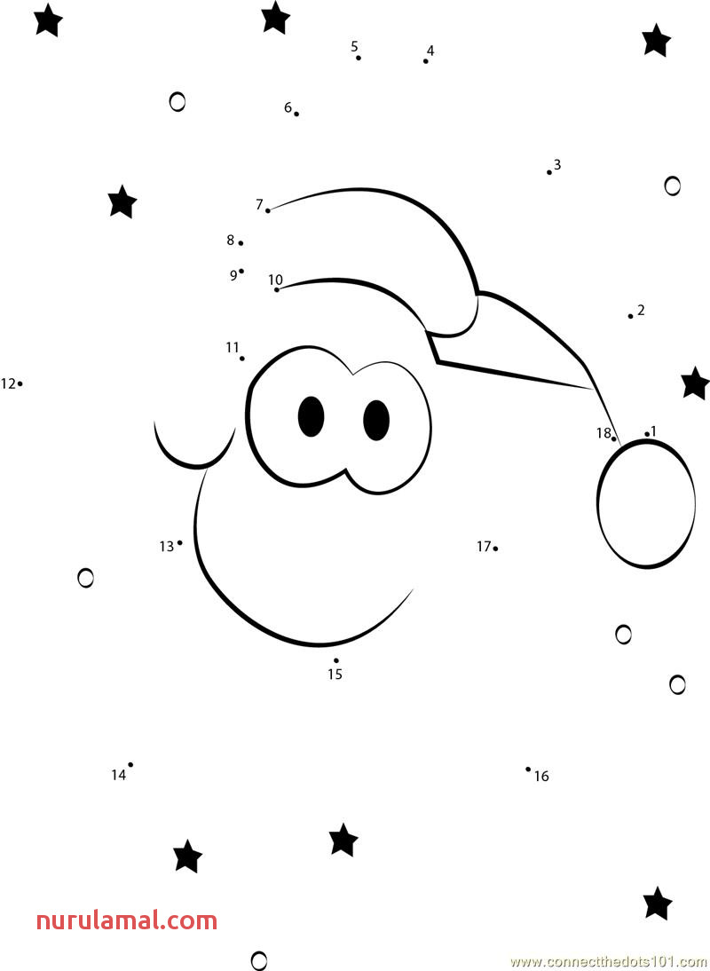 Christmas Star Dot to Dot Printable Worksheet Connect the Dots