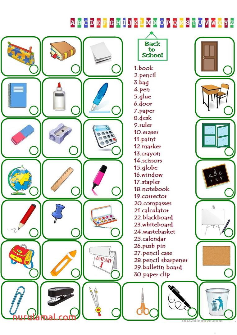 Classroom Objects English Esl Worksheets