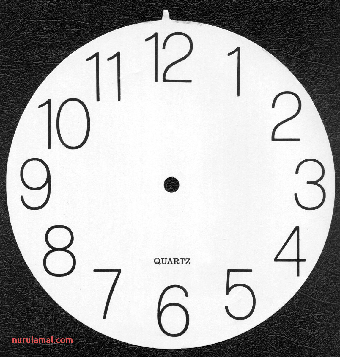 Clock Face Image Printable to Learn Telling Time – Blank