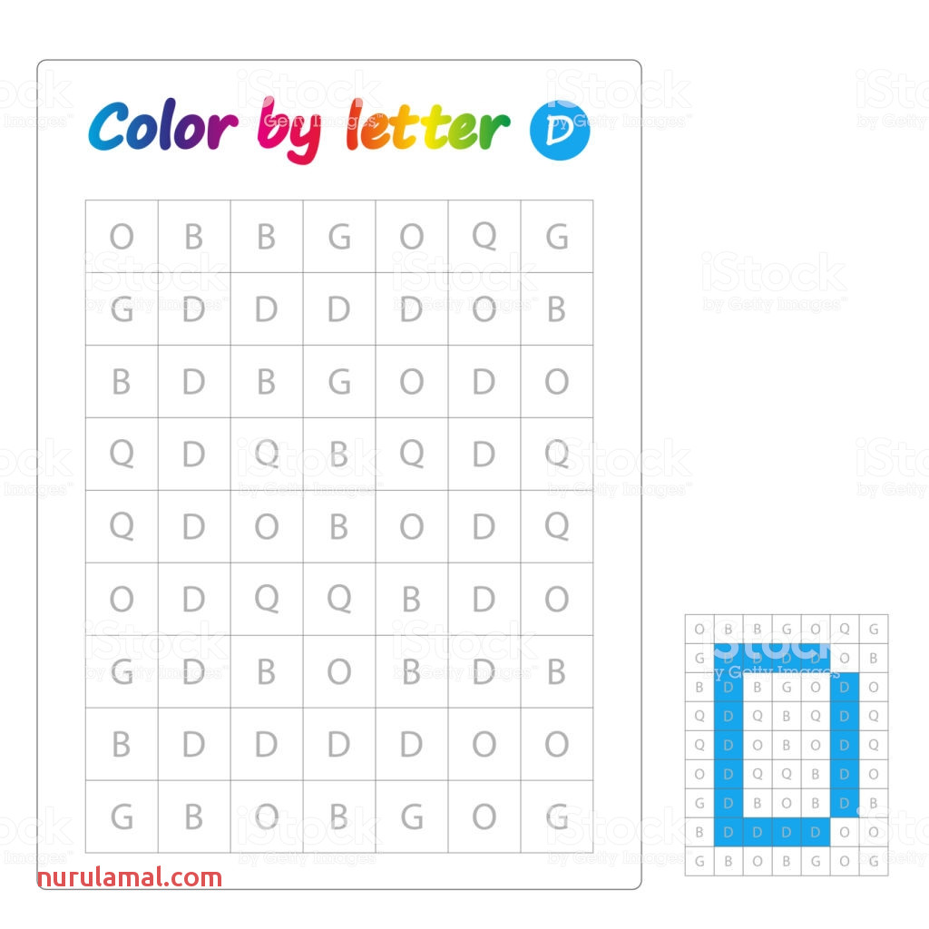 Color by Letters Learning Alphabet Letters Worksheet for