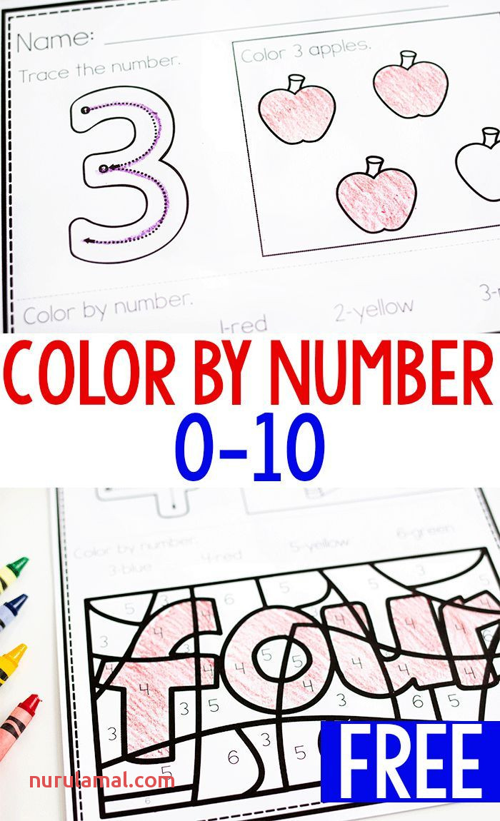 Color by Number Printable Set for 0 10