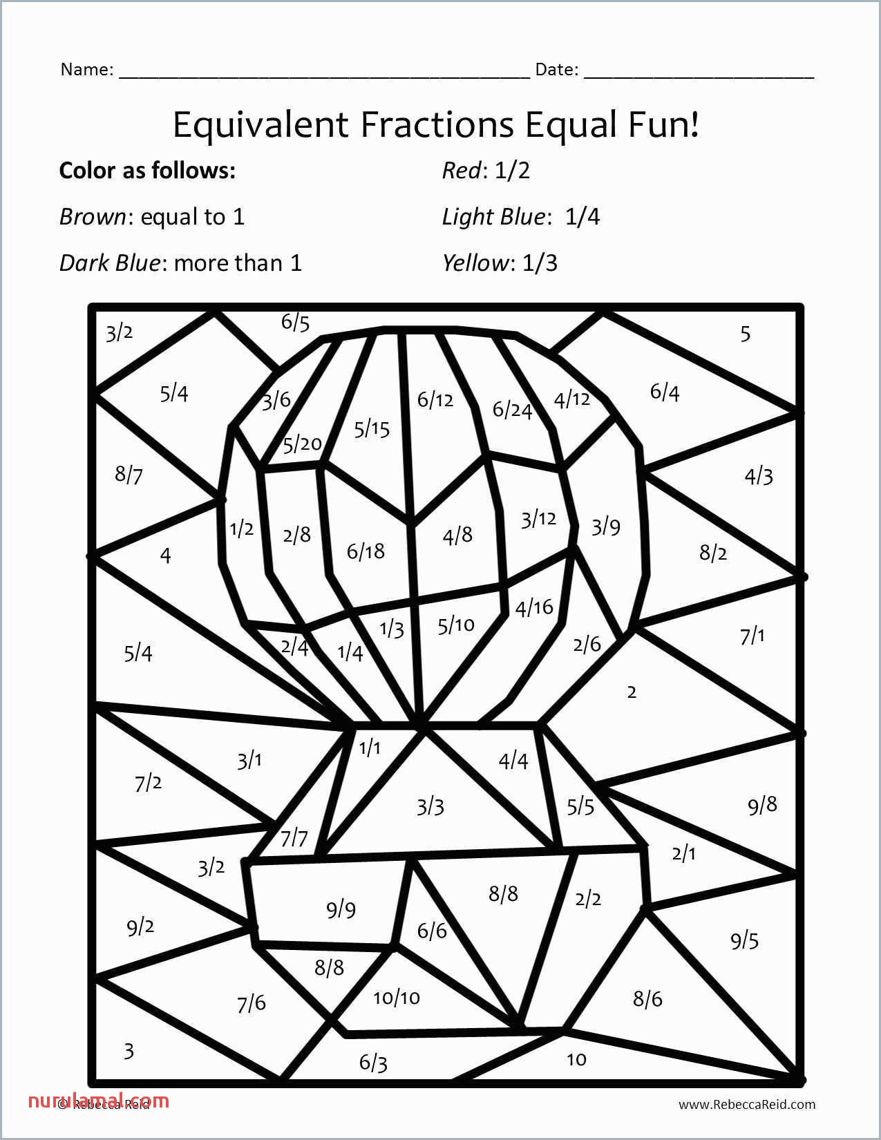 fraction coloring worksheets math book ideas 3rd photo equivalent 5th grade pdf