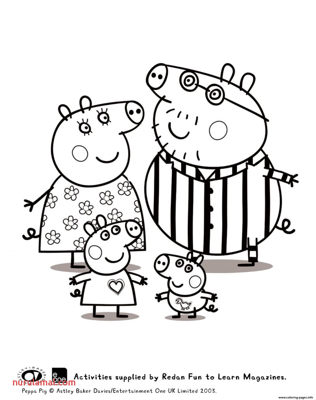 Coloring Page Peppa Pig Colouring Sheets Coloring Page