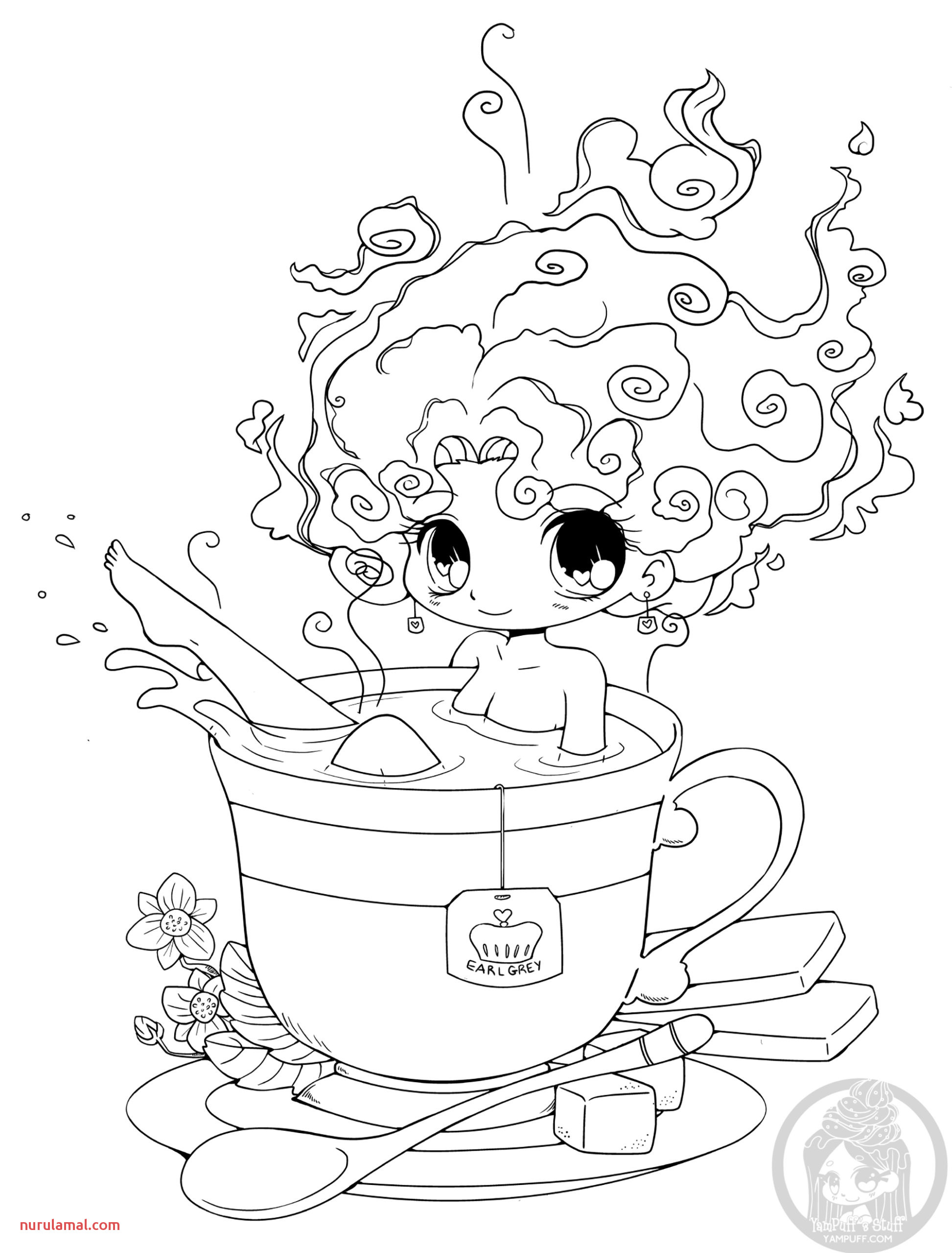 Coloring Pages No Problem Yampuff Coloring for Girls Hot