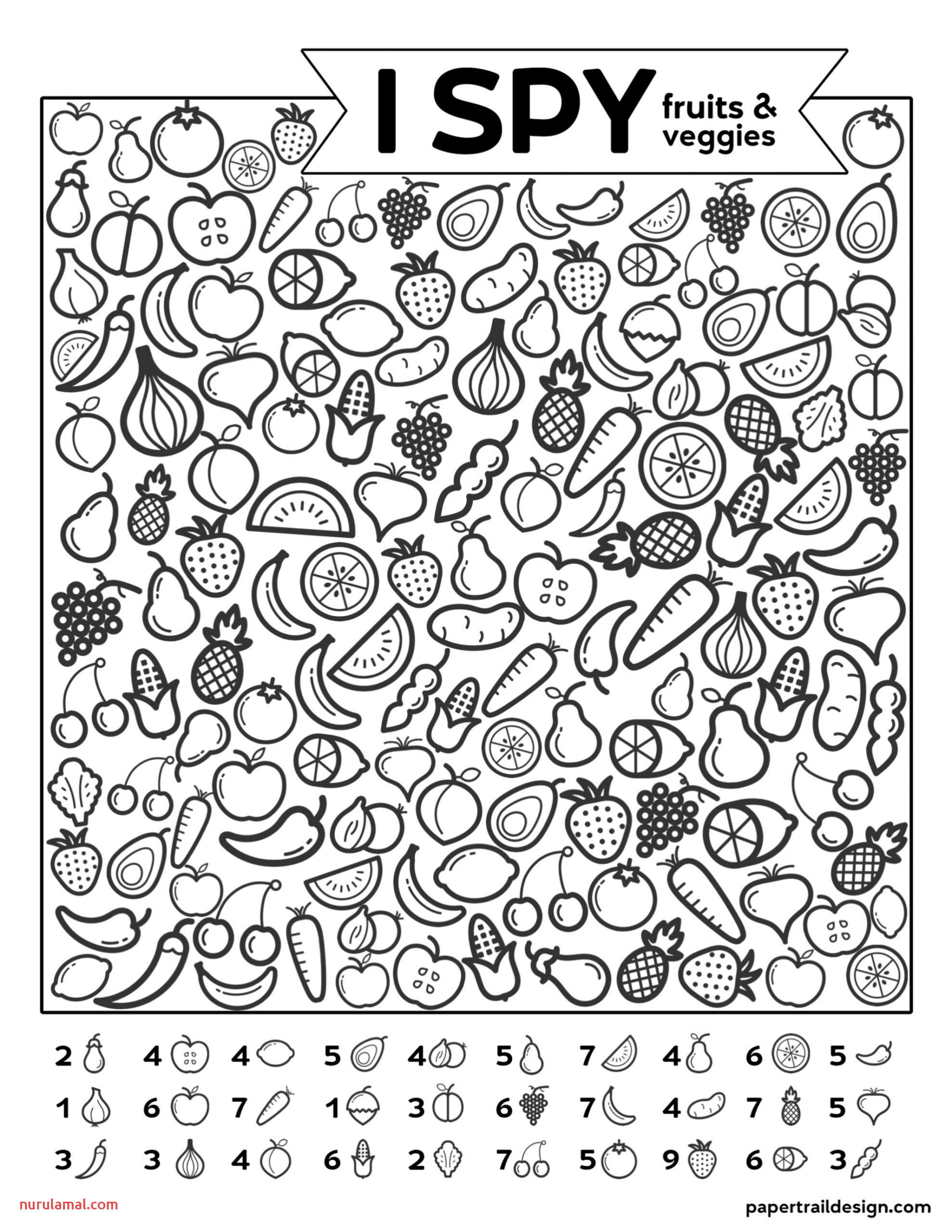 Coloring Pages Printable Fruits and Ve Ables Chuck
