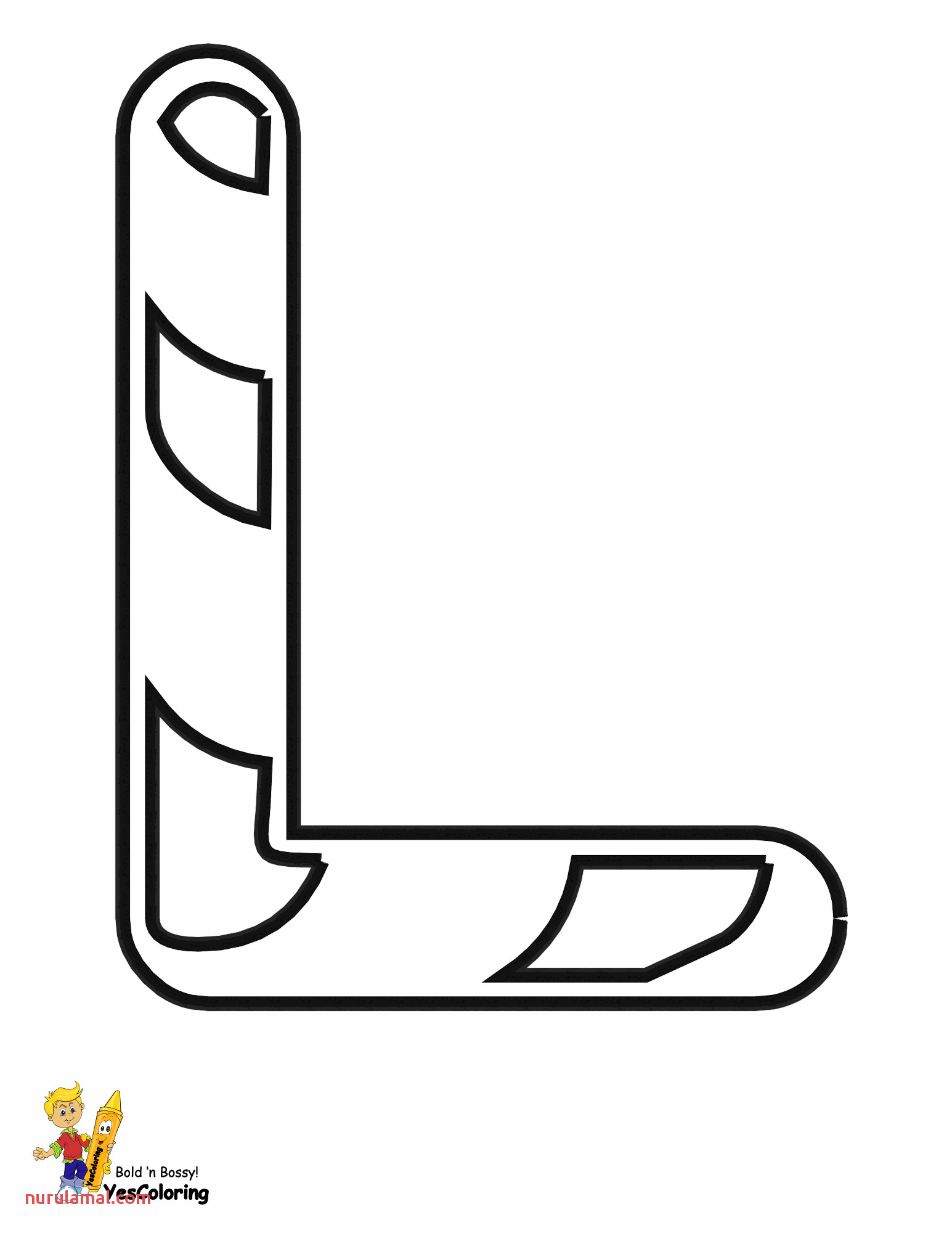 christmas candy cane alphabet coloring pages free letter L at yescoloring