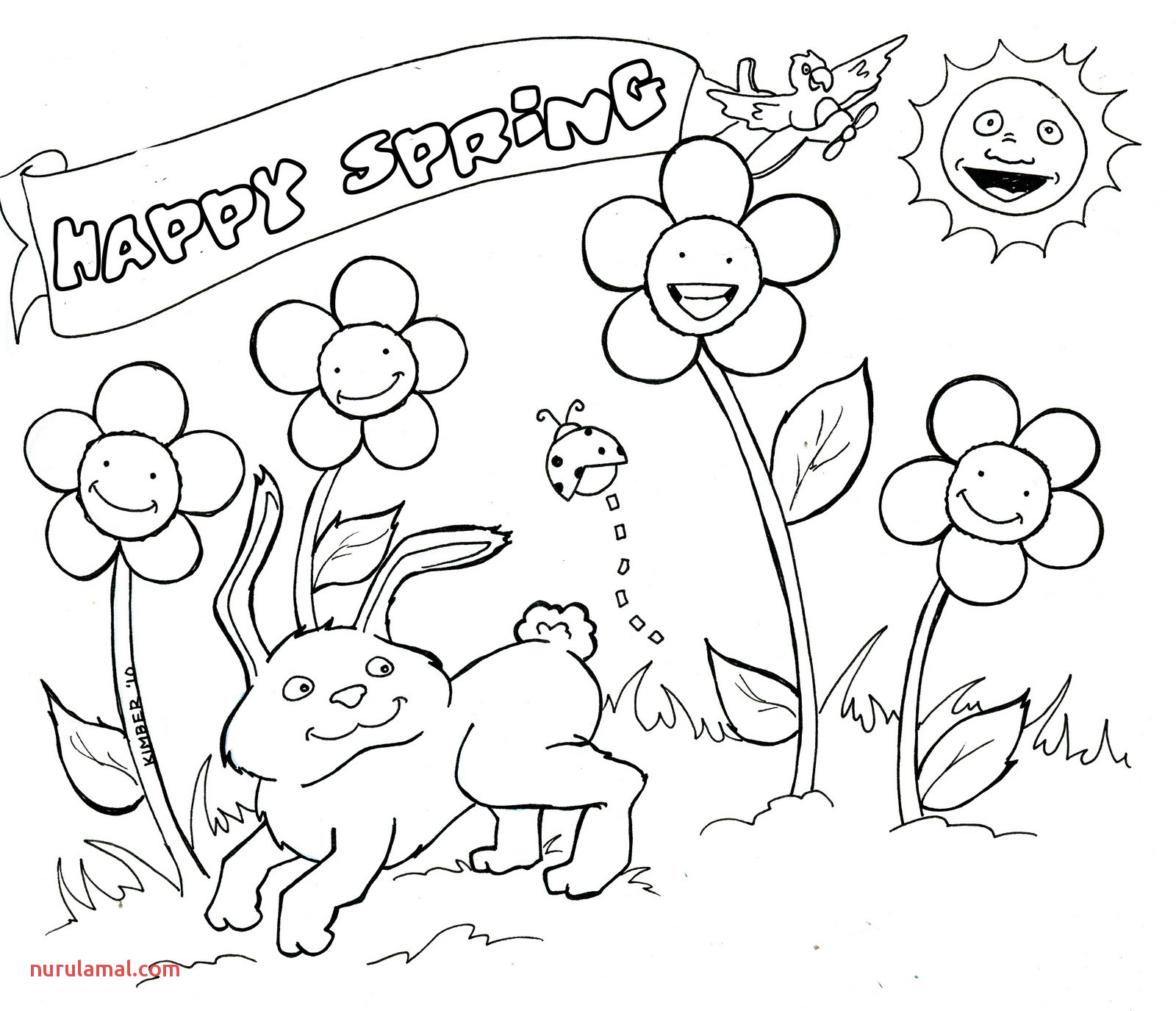 springtime coloring at drawings free for outline pictures colouring kindergarten animals images of flowers horse mountain baby flower cartoons flag van truck dinosaur head
