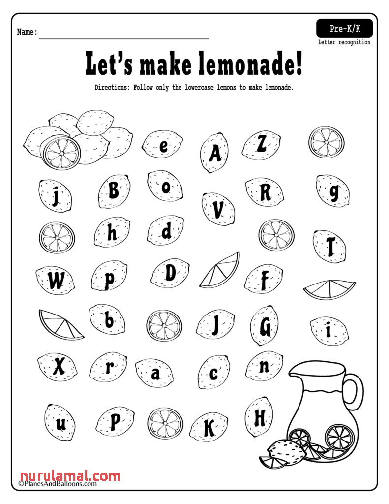 Coloring Pages Summer Lemonade Fun Letter Recognitioneets