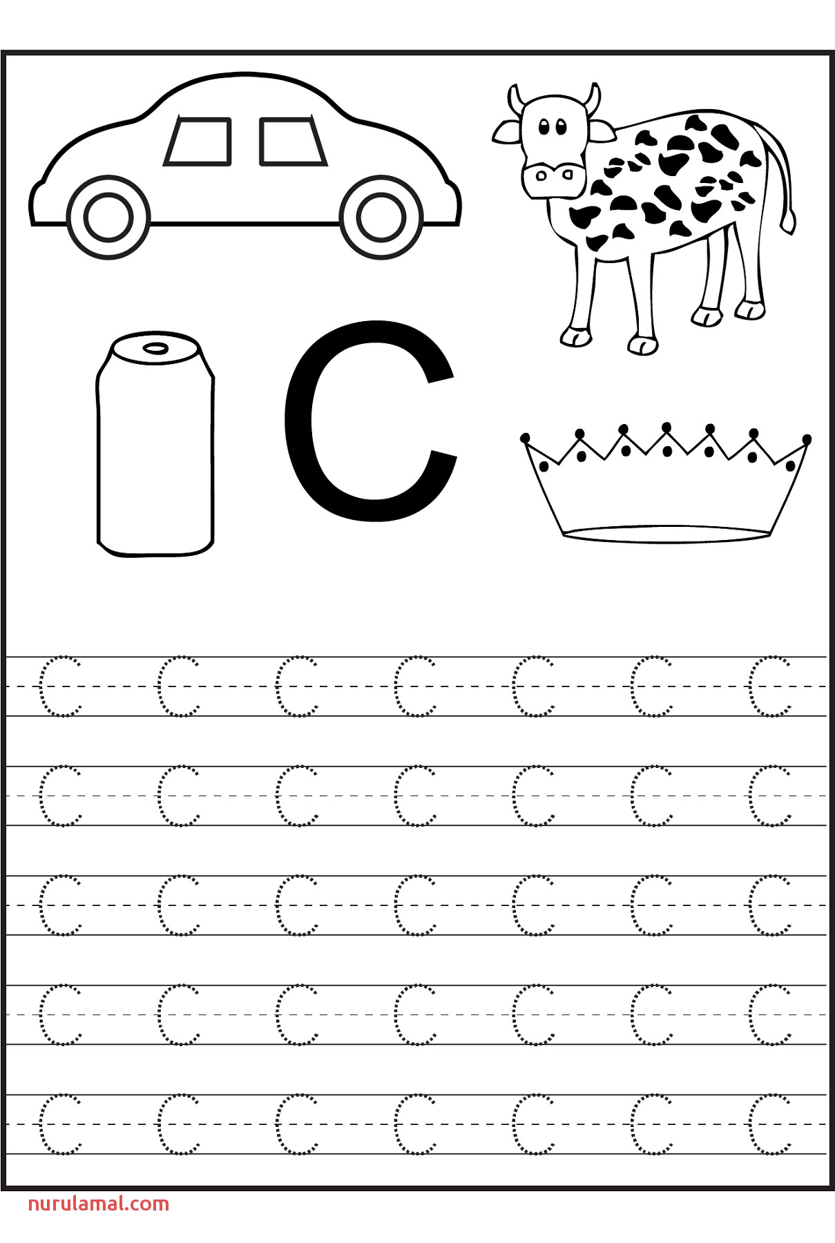 Coloring Pages Trace the Letter Worksheets Preschool