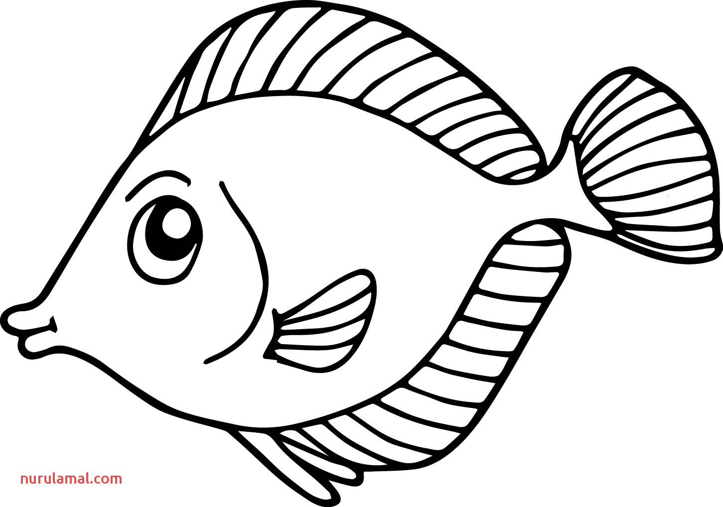 Colouring Worksheet Fish