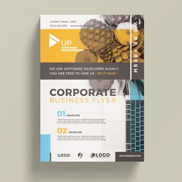 Corporate Business Flyer Template Psd File Free Download