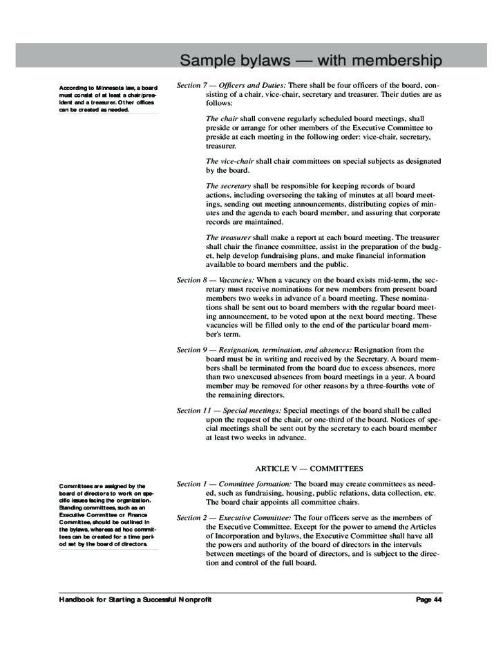 Corporate Bylaws Template Word Business Elegant