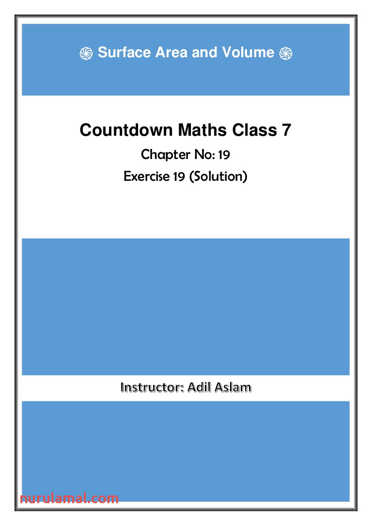 Countdown Class 7th Mathematics Chapter 19 solution