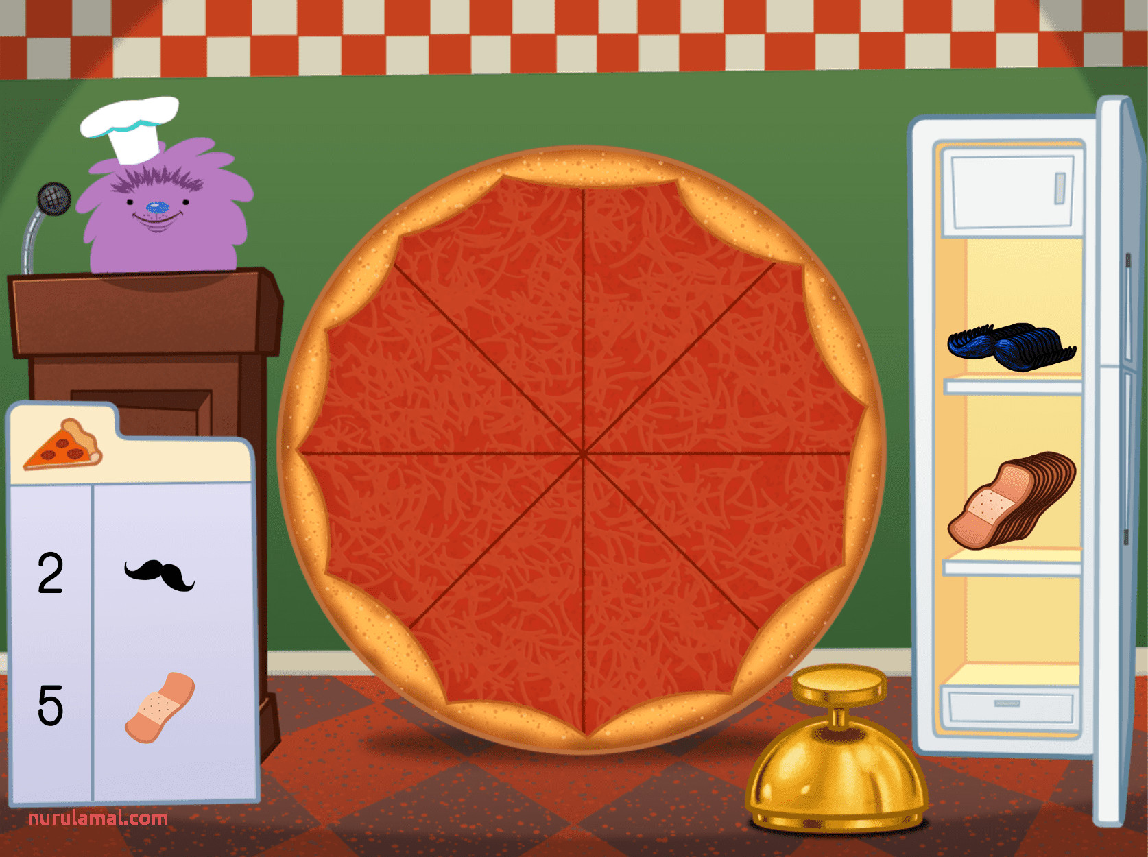 Counting Pizza Party Game Game