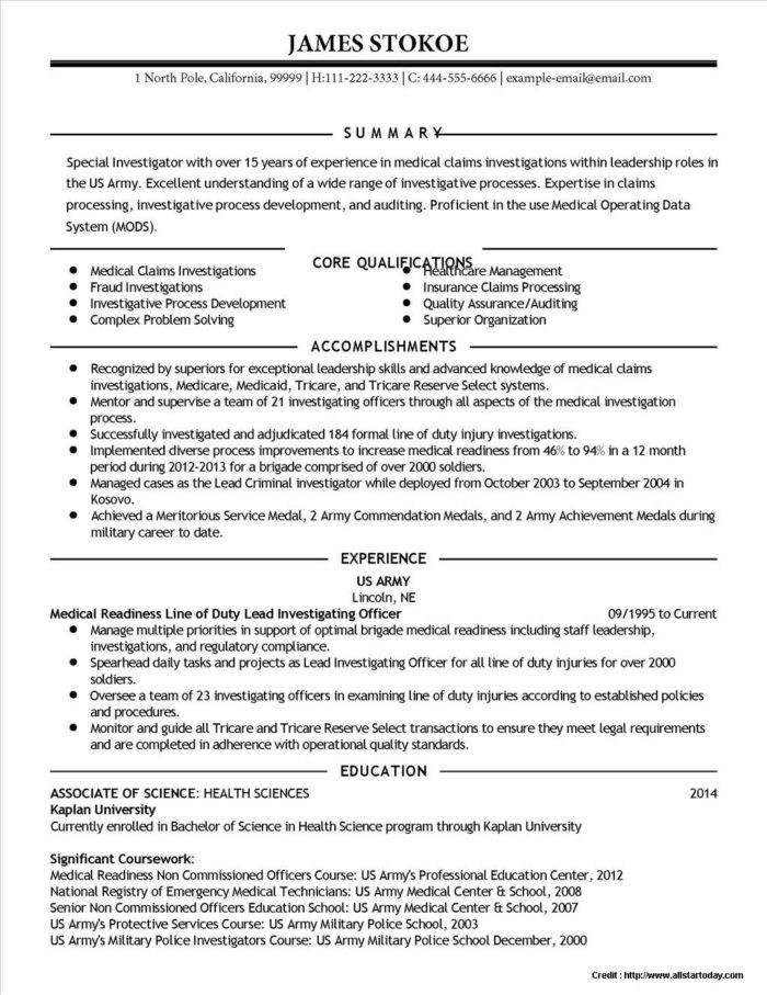 Sterile Processing Technician Resume