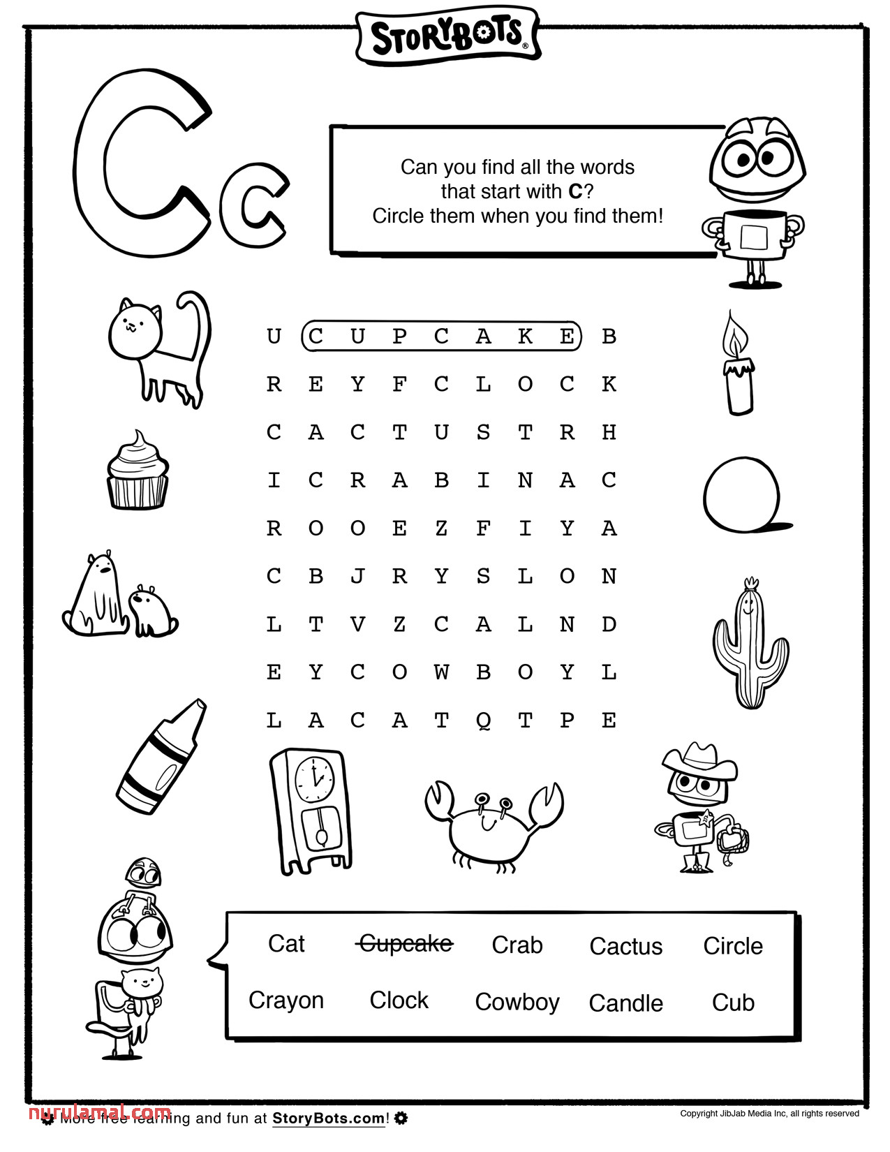 Cowboy Preschool Handwriting Worksheet