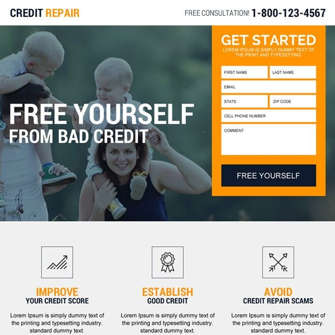 Credit Repair Experts Free Consultation Landing Page