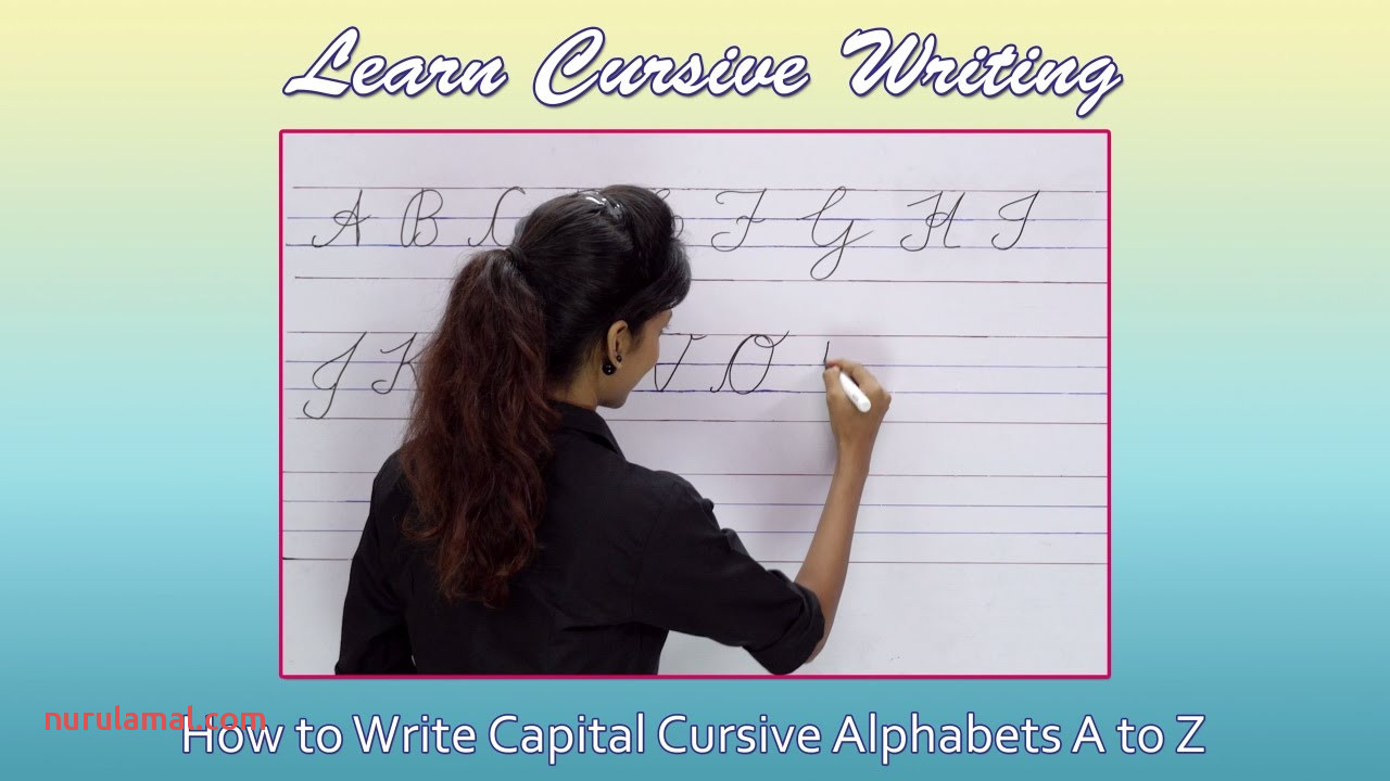 Cursive Writing for Beginners Writing Cursive Alphabets Capital