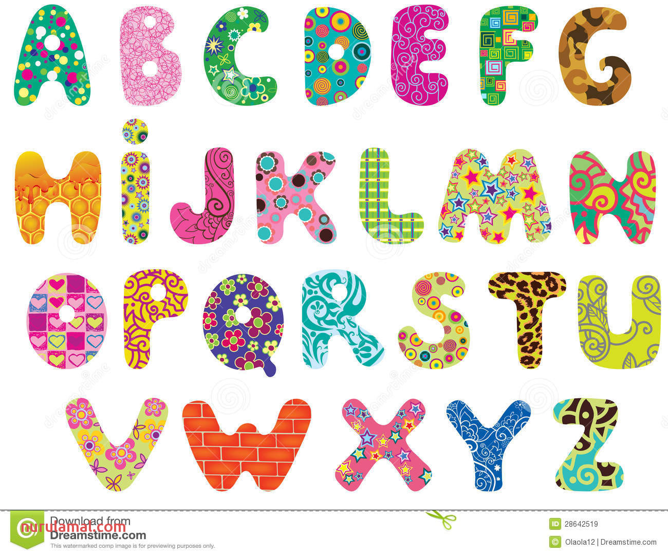 Cute Alphabet Clipart