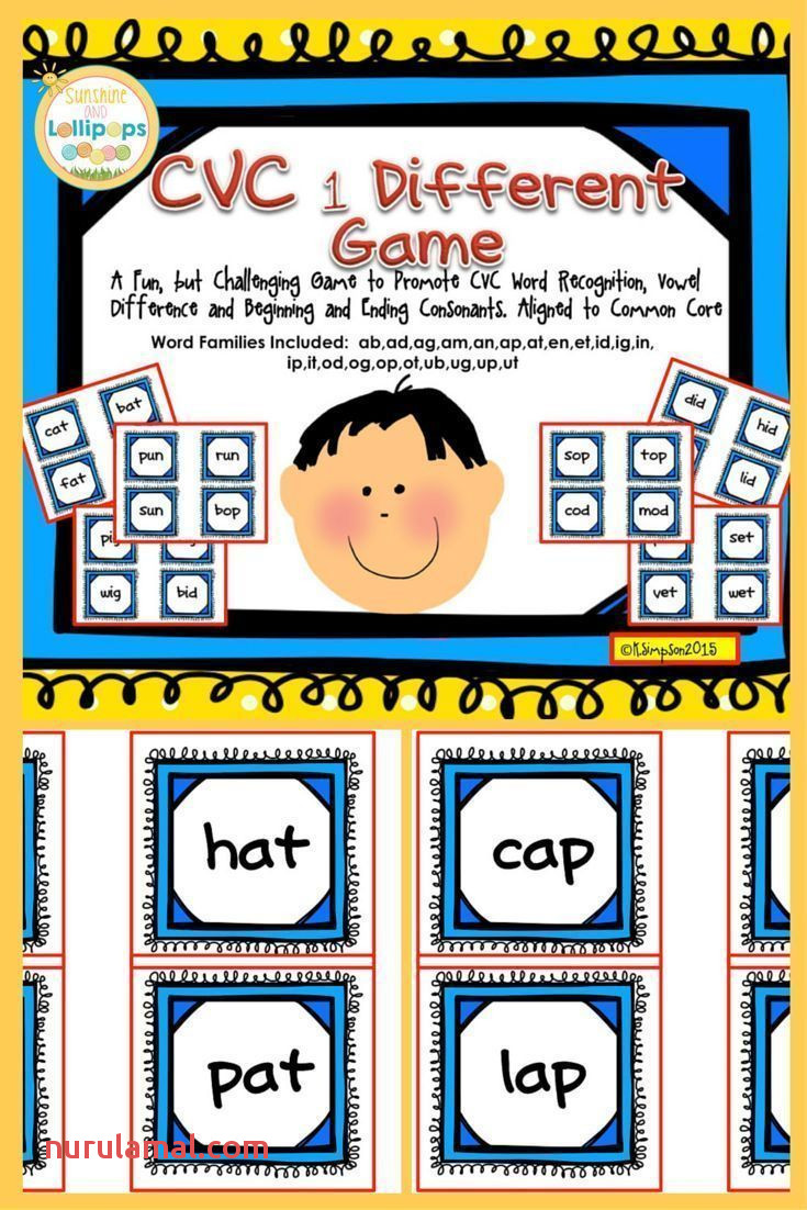 Cvc Word Work E Different Game to Reinforce Cvc Word Rec